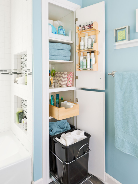 Storage Packed Small Bathroom Makeover